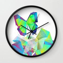 break free butterfly Wall Clock