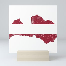 Distressed Latvia Map Mini Art Print