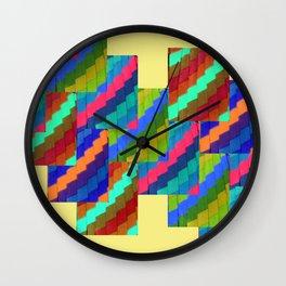 Aztec Eyes Wall Clock