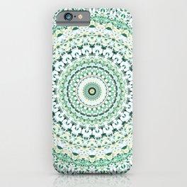 Green Floral Mandala iPhone Case