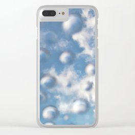 Sky Bubbles #abstract #art #society6 #decor Clear iPhone Case
