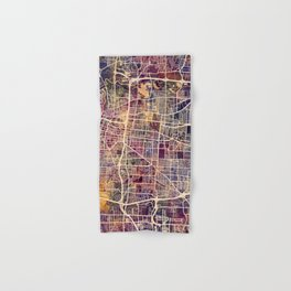 Memphis Tennessee City Map Hand & Bath Towel