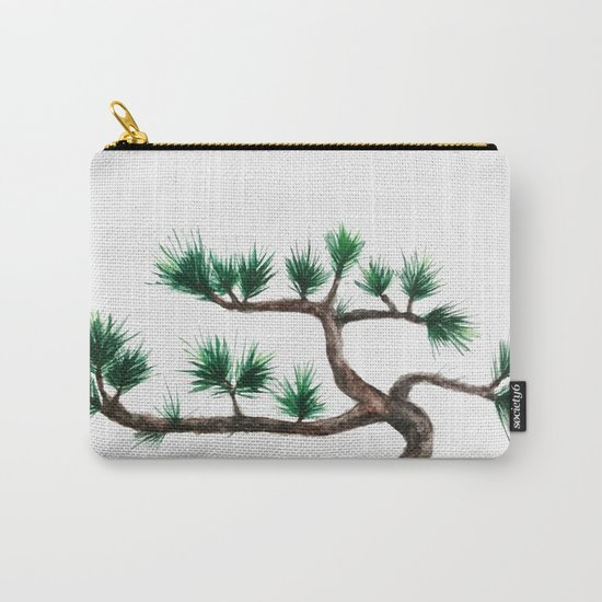 green pine tree painting Carry-All Pouch