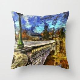 The Headless Horseman Bridge Van gogh Throw Pillow