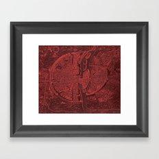 Vintage Paris Red Framed Art Print