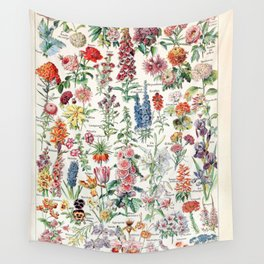 Adolphe Millot - Fleurs pour tous - French vintage poster Wall Tapestry