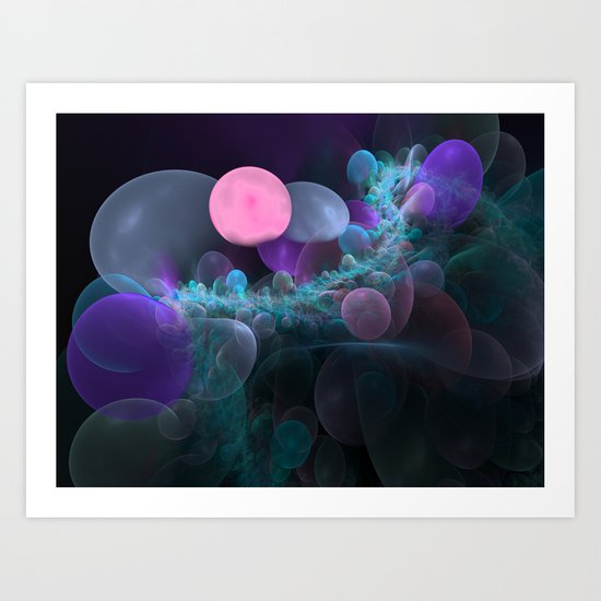 Fractal Bubbles Art Print