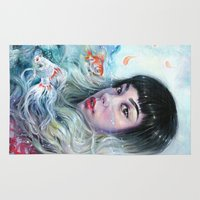 water Area & Throw Rugs featuring Water by Tanya Shatseva