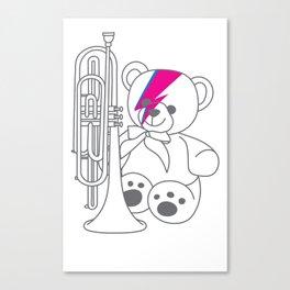 Bix Bowie Canvas Print