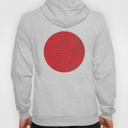 red turquoise stripes Hoody