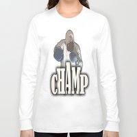 boxing Long Sleeve T-shirts featuring BOXING CHAMP  by Robleedesigns