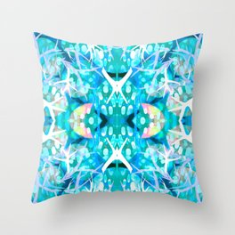 turquoise staghorn reput Throw Pillow