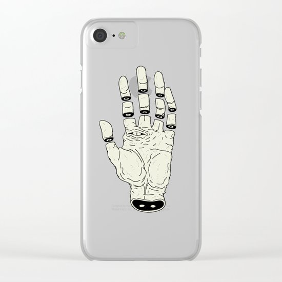 THE HAND OF DESTINY / LA MANO DEL DESTINO Clear iPhone Case