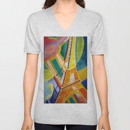 "Robert Delaunay ""Tour Eiffel"" Unisex V-Neck"