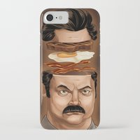 swanson iPhone & iPod Cases featuring Ron Swanson by Dave Collinson