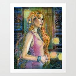 In the Blue Night Art Print