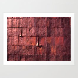 Antique Copper Wall Pattern Art Print