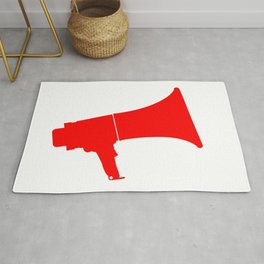 Red Isolated Megaphone Rug