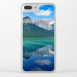 Landscape Panorama (Mountains & Water) Clear iPhone Case