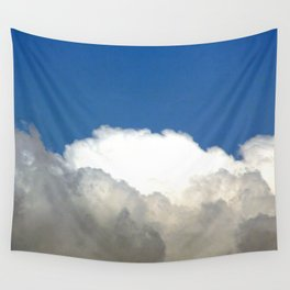 Grey Clouds Blue Sky Wall Tapestry