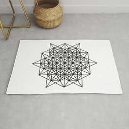 Star tetrahedron, sacred geometry, void theory Rug