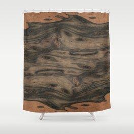 Birdseye Paldao Wood Shower Curtain