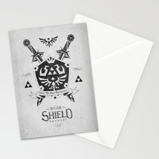 Legend of Zelda Hylian Shield Foundry logo Iconic Geek Line Artly Stationery Cards