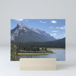 rundle mountain Mini Art Print