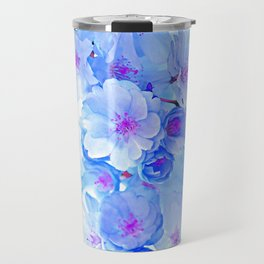 Cherry Blossom.Blue Travel Mug