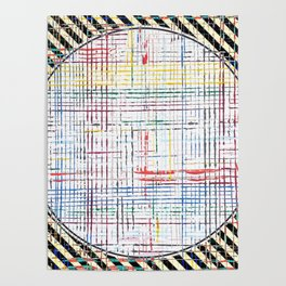 The System - line motif Poster