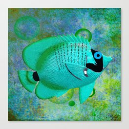 ANGEL FISH BLUE Canvas Print
