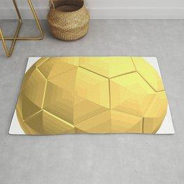 soccer ball gold Rug