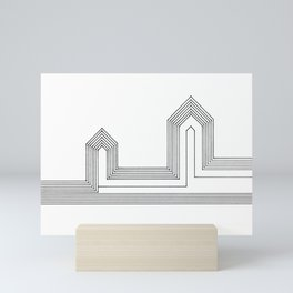 Line Houses Mini Art Print