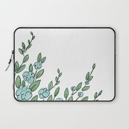 Floral Border Laptop Sleeve