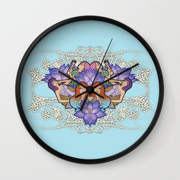 Blue Lotus Girls Wall Clock