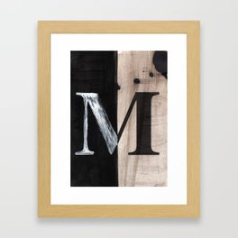 -M- Framed Art Print