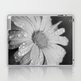 black and white flower II Laptop & iPad Skin