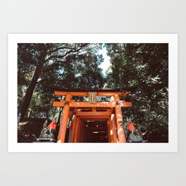 Fushimi Inari Shrine in Japan Art Print