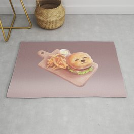 Smile Dog Burger Rug