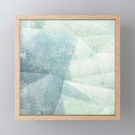 Frozen Geometry - Teal & Turquoise Framed Mini Art Print