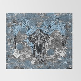 BULL SKULL Throw Blanket