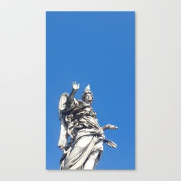 The saint and the seagull Canvas Print