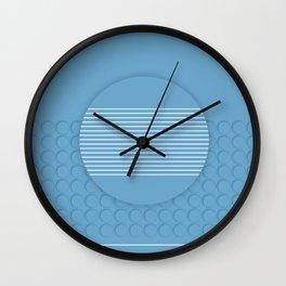 The blue dot Wall Clock