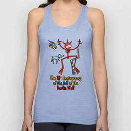 The 25th  anniversary of the fall of the Berlin Wall - (artist unknown), Photo by Chicca Besso Unisex Tank Top