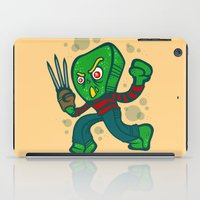 freddy krueger iPad Cases featuring Gumby Krueger by Artistic Dyslexia