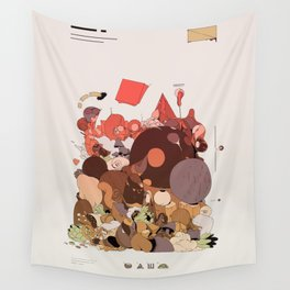 organic infographics Wall Tapestry