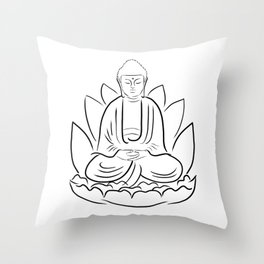 Yogi Buddha Throw Pillow