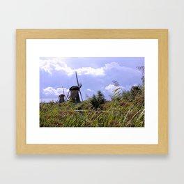 Two sisters at Kinderdijk Framed Art Print