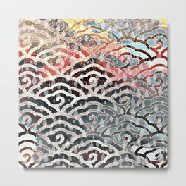 Clouds and Rain - Watermelon and Pearl Tones I Metal Print