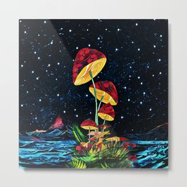 Cosmic mushrooms Metal Print